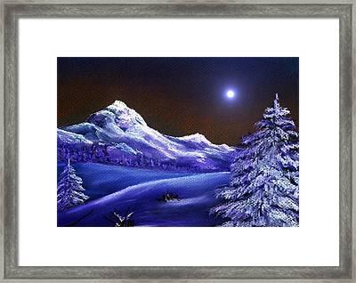 Cold Night Framed Print by Anastasiya Malakhova