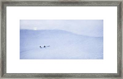 Cold Nights Under The Midnight Sun Framed Print by Theresa Tahara