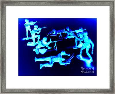 Cold Soldiers- Evolution Vs. Devolution Framed Print by Duwayne Washington