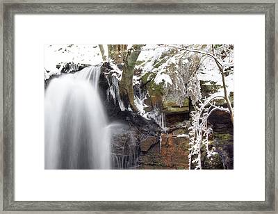 Cold Water Rush 2 Framed Print by David Birchall