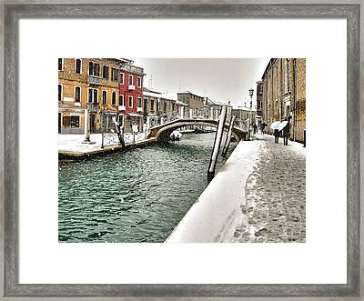 Framed Print featuring the photograph Cold Winter In Venice by Thierry Bouriat