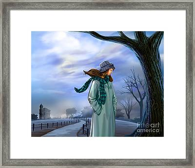 Cold Winter Warm Thoughts Framed Print by Bedros Awak