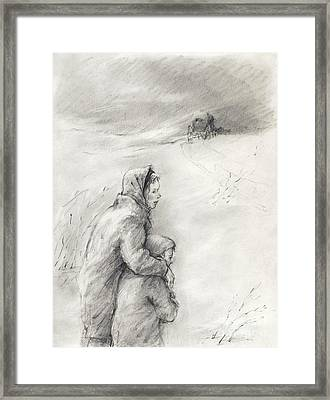 Cold Winter Framed Print by Youri Ivanov