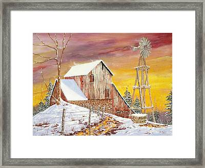 Texas Coldfront Framed Print by Michael Dillon