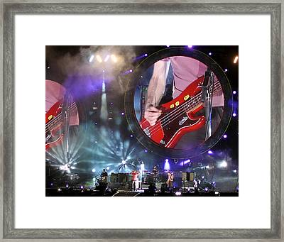 Coldplay - Sydney 2012 Framed Print by Chris Cousins