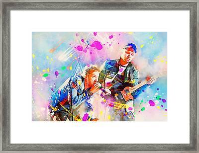 Coldplay Framed Print by Rosalina Atanasova