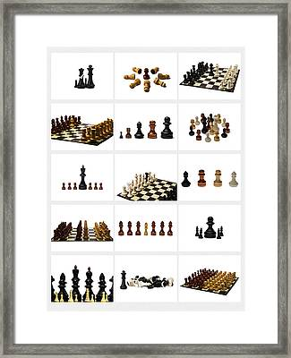 Collage Chess Stories 1 - Featured 3 Framed Print by Alexander Senin