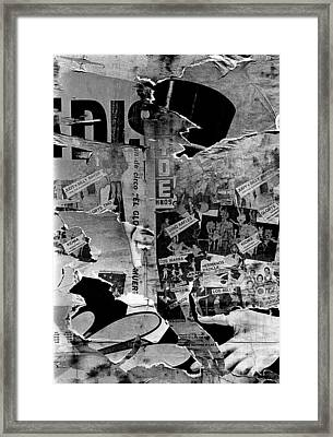 Collage Circus Acts Us Mexico Border Town Juarez Chihuahua Mexico 1968 Framed Print by David Lee Guss