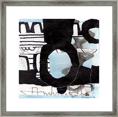 Collage Drawing One Framed Print by Richard Allen