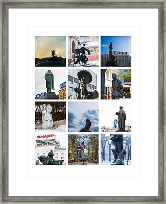 Collage - Moscow Monuments - Featured 3 Framed Print by Alexander Senin