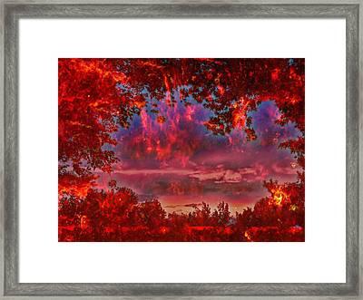 End Of Days Framed Print by Joel Zimmerman