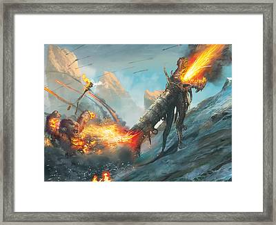 Collateral Damage Framed Print by Ryan Barger