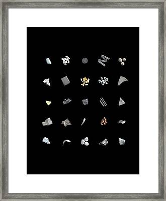 Collection Of Elements Framed Print by Science Photo Library