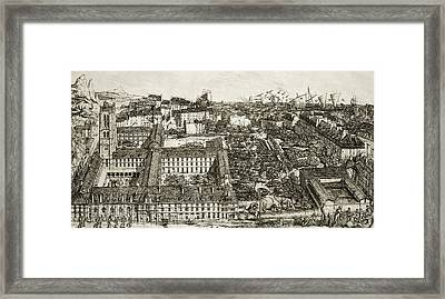 College Henri Iv And The Lycee Napoleon Framed Print by Charles Meryon