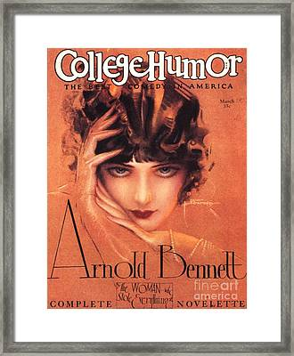 College Humour 1910s Usa Portraits Framed Print by The Advertising Archives