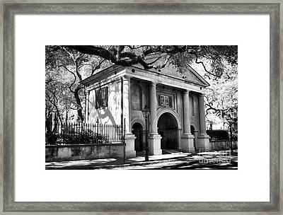College Of Charleston Framed Print by John Rizzuto