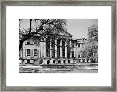 College Of Charleston Main Building 1940 Framed Print by Mountain Dreams