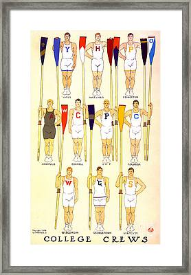 College Rowing Crews 1908 Framed Print by Padre Art
