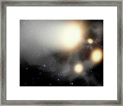 Colliding Galaxies Framed Print by Nasa/jpl-caltech/t. Pyle (ssc)