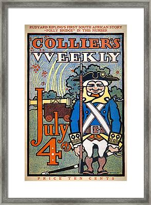 Colliers Cover, 1900 Framed Print by Granger