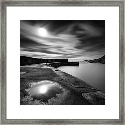 Collieston Breakwater Framed Print by Dave Bowman
