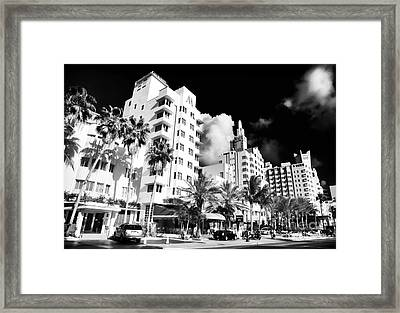 Collins Avenue Framed Print by John Rizzuto