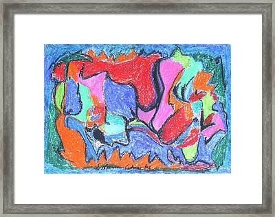 Collision Course Framed Print by Esther Newman-Cohen