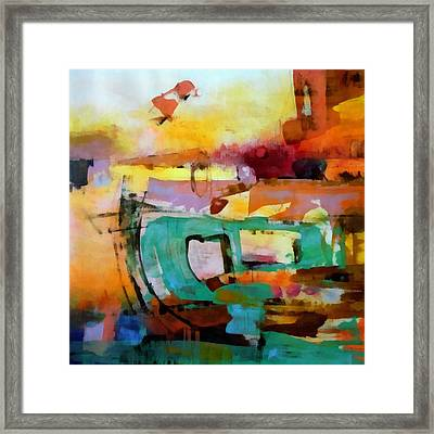 Collision Framed Print by Katie Black