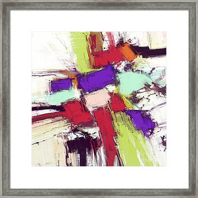Collision Framed Print by Keith Mills