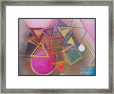 Collusion Of Shapes Framed Print by Patricia Bunk