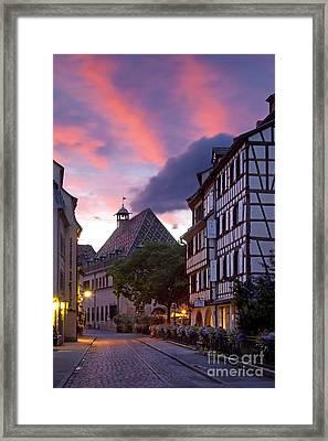 Colmar Twilight Framed Print by Brian Jannsen