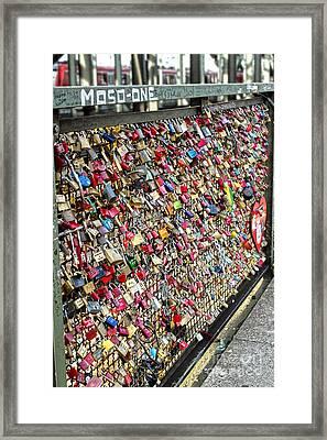 Cologne - Hohenzollern Bridge - Gypsy Locks - 02 Framed Print by Gregory Dyer