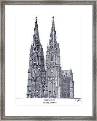 Cologne Cathedral Framed Print by Frederic Kohli