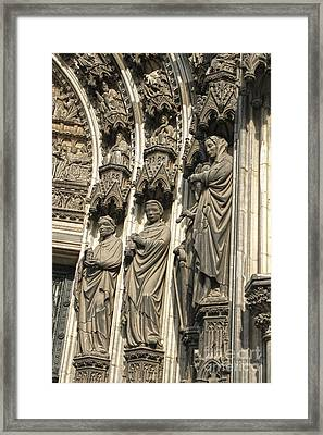 Cologne Germany - High Cathedral Of St. Peter - 12 Framed Print by Gregory Dyer