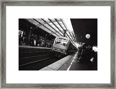 Cologne Trainstation Framed Print by Jimmy Karlsson