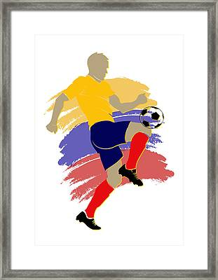 Colombia Soccer Player Framed Print by Joe Hamilton