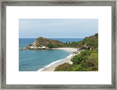 Colombia, Tayrona National Park Framed Print by Matt Freedman