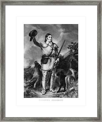 Colonel Davy Crockett Framed Print by War Is Hell Store