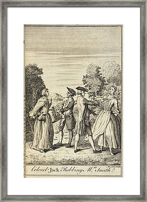 Colonel Jack Robbing Mrs Smith Framed Print by British Library