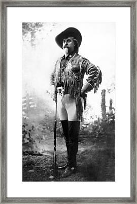 Colonel William F. Cody Framed Print by W.H. Bates