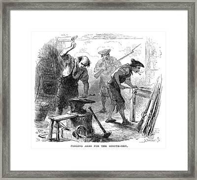 Colonial Blacksmith, 1776 Framed Print by Granger