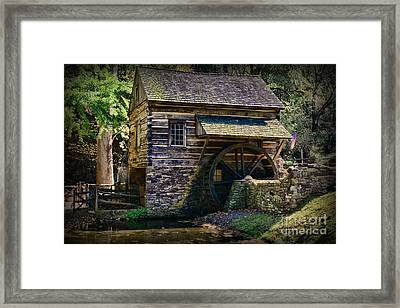 Colonial Grist Mill Framed Print by Paul Ward