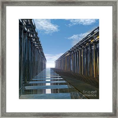 Colonnade Framed Print by Diuno Ashlee