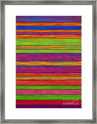 Color And Texture Framed Print by David K Small