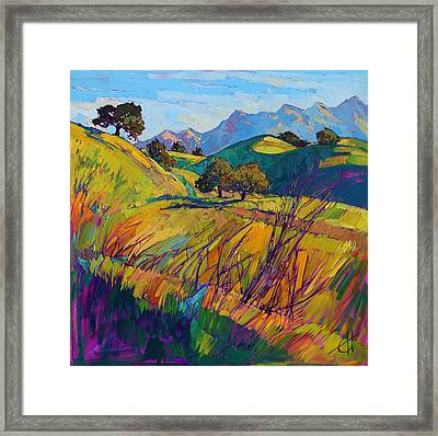 Color Curves Framed Print by Erin Hanson