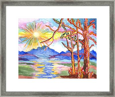 Color In The Country Framed Print by Connie Valasco