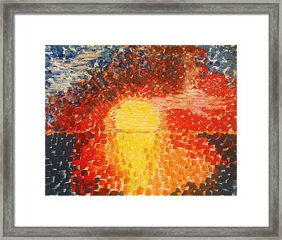 Color In The Sky Framed Print by Eloisa Bevilacqua