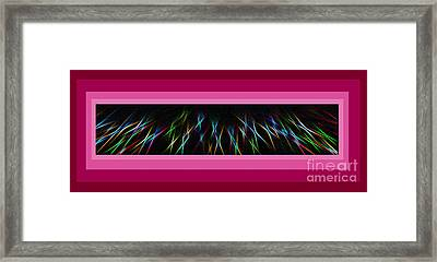 Color Lightrays Framed In Pink To Red Hues Framed Print by ImagesAsArt Photos And Graphics