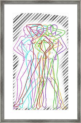Color Model Framed Print by Cristian Susunaga
