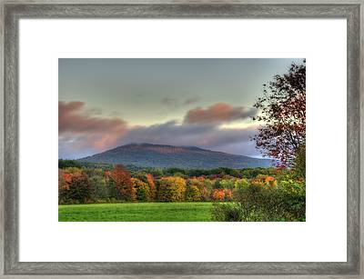 Color On Crotched Mountain - Nh Framed Print by Joann Vitali